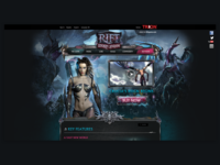 Client - Trion Worlds - Rift Landing Page