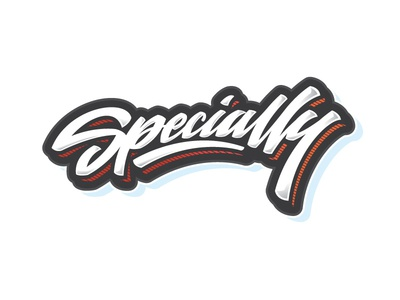 Specially specially letters letter type font logo lettering calligraphy