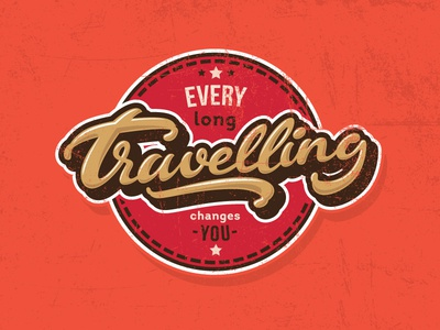 Travelling changes you long travelling letters letter type font logo lettering calligraphy