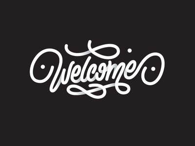 Welcome friend welcome letters letter type font logo lettering calligraphy