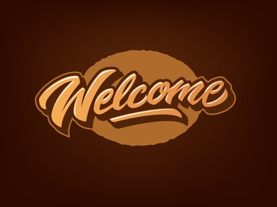Welcome welcome letters letter type font logo lettering calligraphy