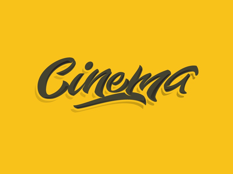 Cinema cinema letters letter type font logo lettering calligraphy