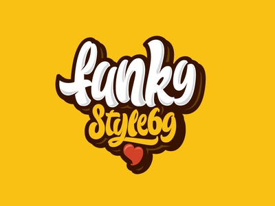 Funky Style 69 funky funk letters letter type font logo lettering calligraphy