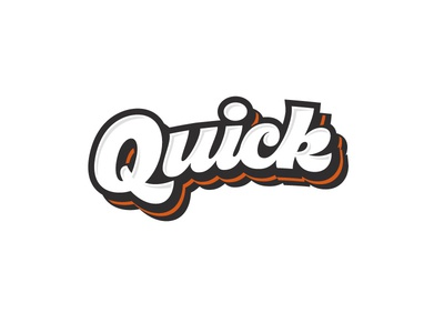 Quick quick letters letter type font logo lettering calligraphy
