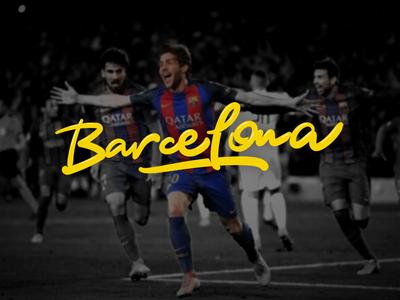 Barcelona barcelona football fcbarcelona comission behance logofolio calligraphy lettering logotype logo