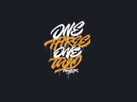 One Three One Two type original logo letters lettering letter font calligraphy white yellow