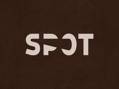 SPOT logofolio letter typography branding behance projector light spotlight spot vector design original logotype print type letters logo font lettering calligraphy