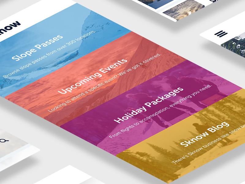 Sknow App - Designed with @AdobeXD hiring hire xd adobe xd ios travel vacation ui app snow