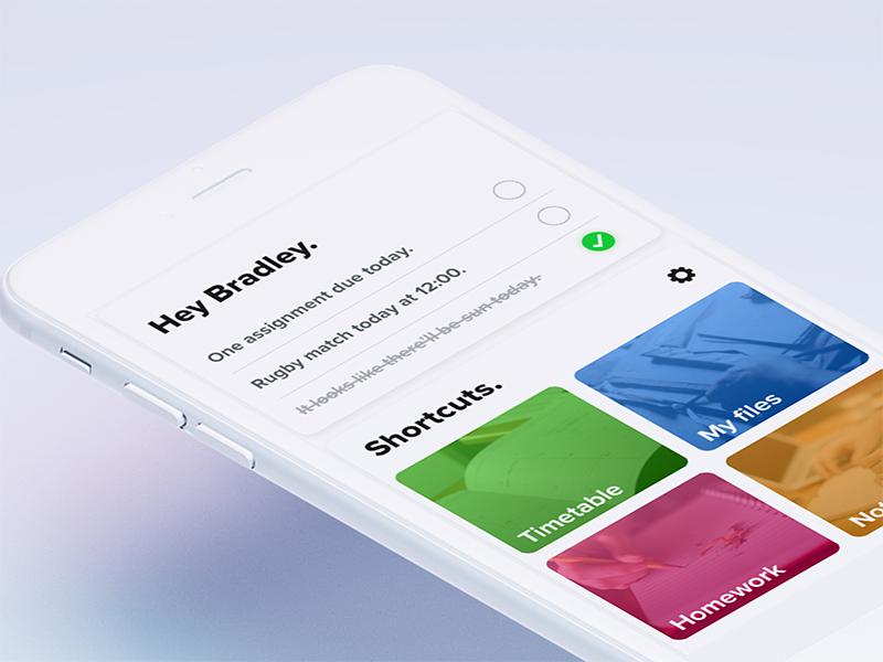 Trifolio home page calendar to do nav ios app concept ui assistant