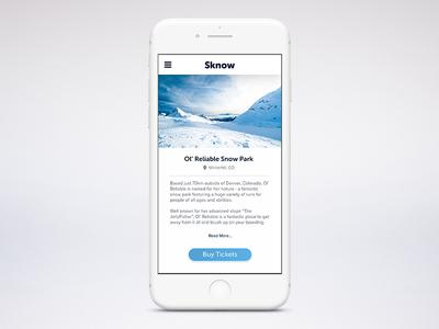 Sknow - snow park page.