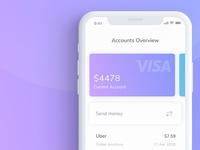Mobile finance app - Visual exploration