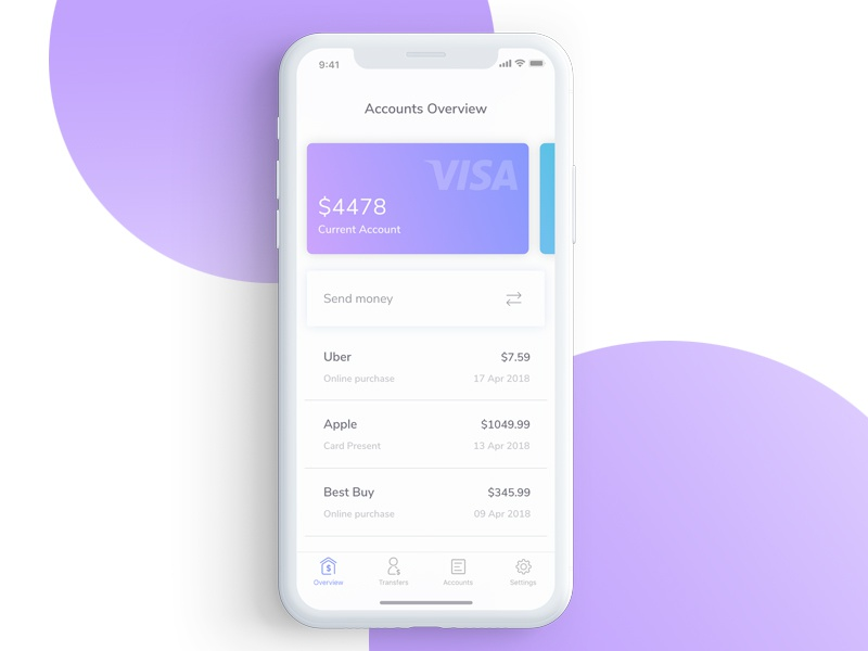 Fintech shot! dashboard overview tracking sharing money savings finance ios app product bank fintech