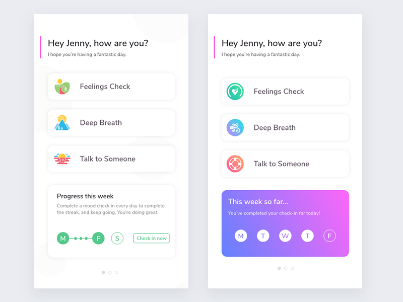 Mental Health App home track tracking anxiety depression product ux ui healthcare health mental