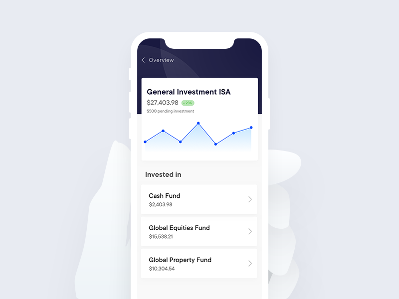 Investment app mockup app ios investment finance fintech money invest