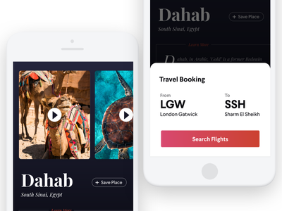 Travel & Tourism App dark ui for hire booking app booking travel app travel ios app