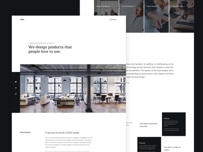 Studio Page agency branding profile website portfolio agency design studio caus