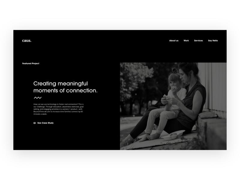 Featured Project mental illness mental health theme ui dark website case study portfolio adobexd design