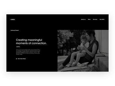 Featured Project mental illness mental health theme ui dark website case study portfolio adobexd design