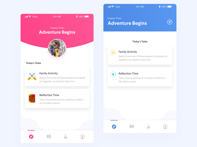 Visual Exploration ux app mobile ui gamification dashboard game connection family mental health