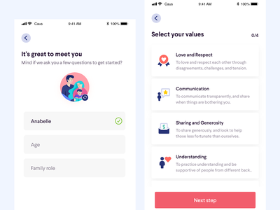 Onboarding Screens sign up onboarding screen onboarding mental health health ux ios ui