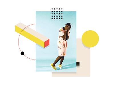 Tyler geometric shapes print isometric illustration flat abstract 2d creator tyler golf