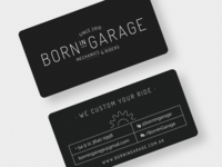 Born In Garage - Business cards