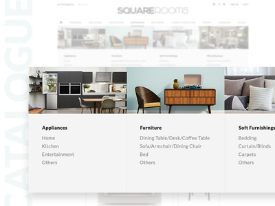 Mega Menu for Catalogue decor furniture ui interface web clean simple magazine mega menu catalogue