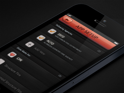 PulsePoint App emergency iphone app fire red dark ui