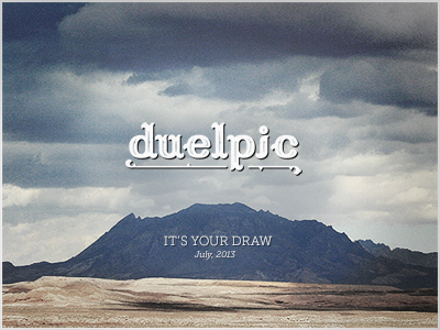 Duel pic poster dribbble