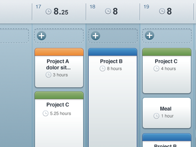iPad Time Tracking ipad time tracking ios ui ux colorful project projects hours