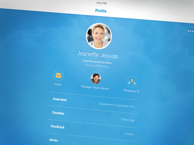Workday's Mobile Redesign profile ipad ios ui product flat blue people redesign