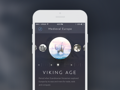 History Explore App vikings viking ios timeline dark history app iphone