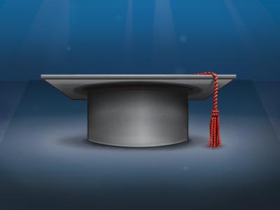 Graduation Hat Icon graduation tassel rope black red gray blue spotlight vector hat aubrey hadley