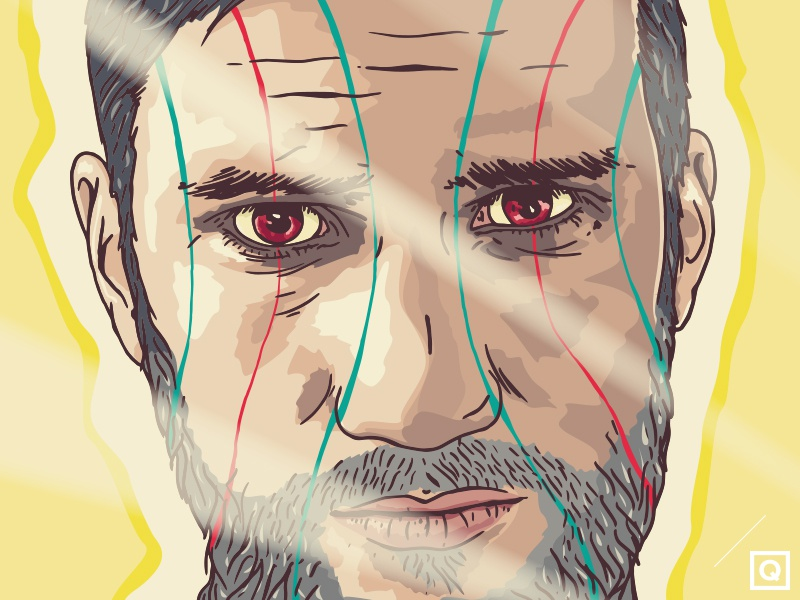 Self-Portrait / WIP vector illustration project sketch drawing portrait self-portrait new soon wip work in progress lille