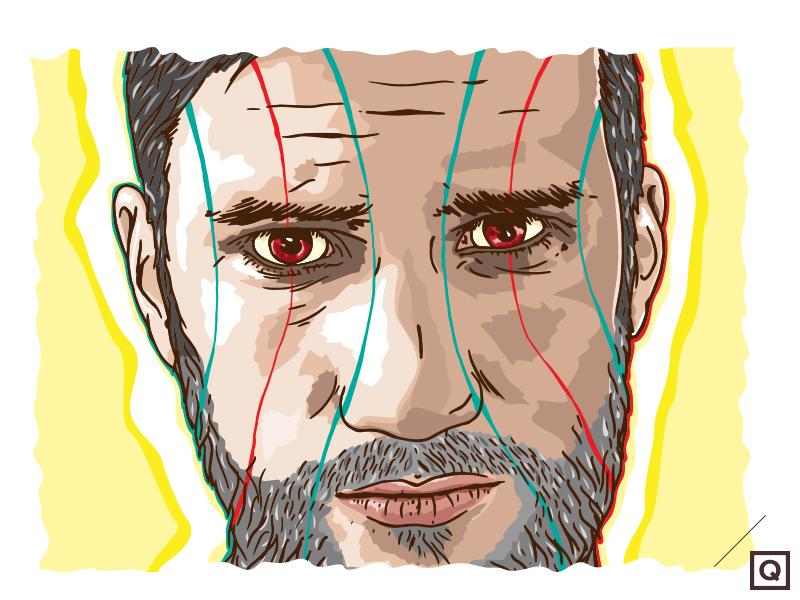 Self-Portrait 2014 / Final selfportrait portrait illustration scifi lille erkaterrestre vector new draw drawing