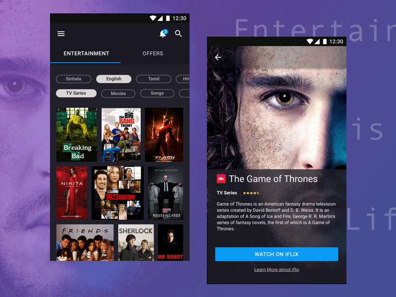 Entertainment ux android entertainment