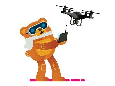 Cyber Bear Drone animal robot drone bear