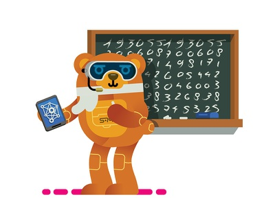 Cyber Bear Science math science animal bear robot