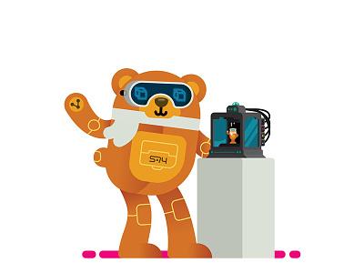 Cyber Bear 3D Printer 3d printer animal robot cyber bear