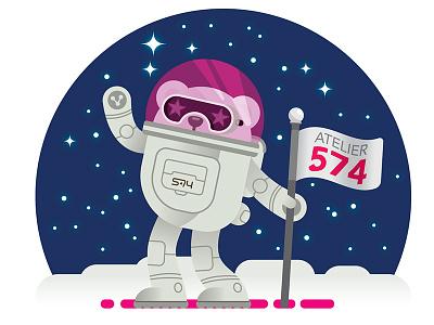 Cybear V05 Moon astronaut moon space robot animal bear cyber
