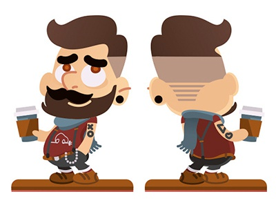 Hipster hipster illustration character
