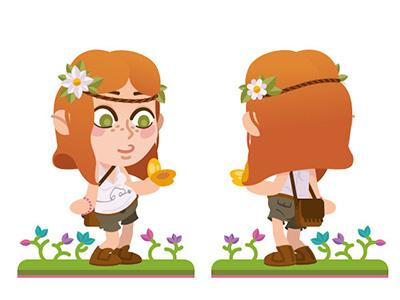 Nature girl nature illustration character