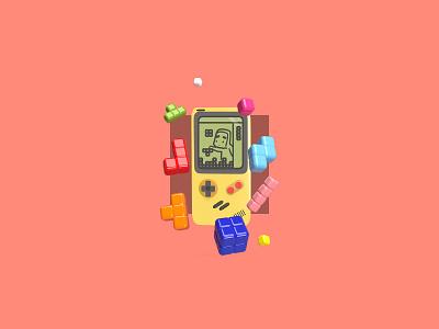 Game Game Game boy colorful illustration