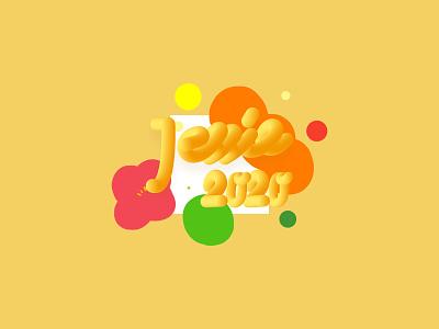Cheese font font design illustration
