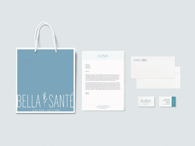 Bella Sante Collateral spa stationary business cards packaging collateral branding