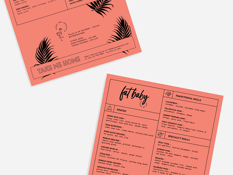 Fat Baby Menu Design By Jsgd On Dribbble
