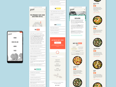 Spyce - Mobile web design responsive ui mobile