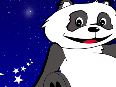 Astro Panda illustration design illustrator