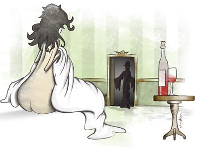 The Visitor illustration design illustrator
