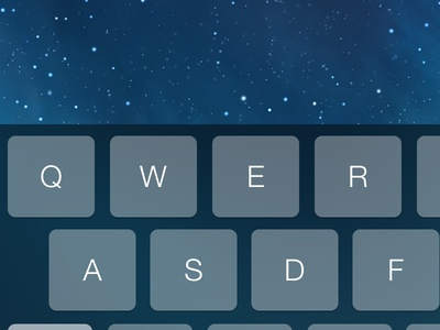 iOS 7 Dark Keyboard